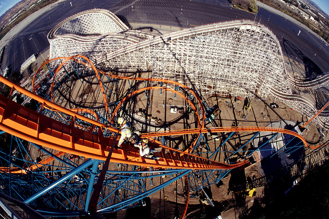 SixFlagsMagicMountainGoliathRollerCoasterConstruction